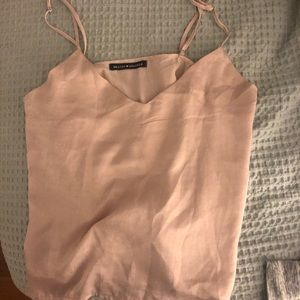 brandy melville silk tank top